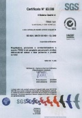 SGS Italy certificate number 93.008