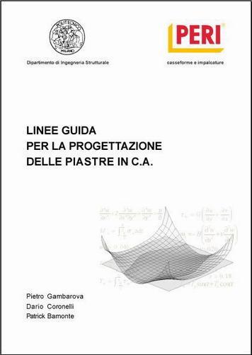 """Peri pubblica le """"Linee guida per la progettazione delle piastre in c.a"""""""