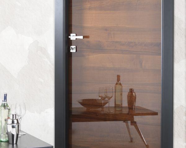 Doga hori porta in noce effetto specchio - Porta a specchio ...