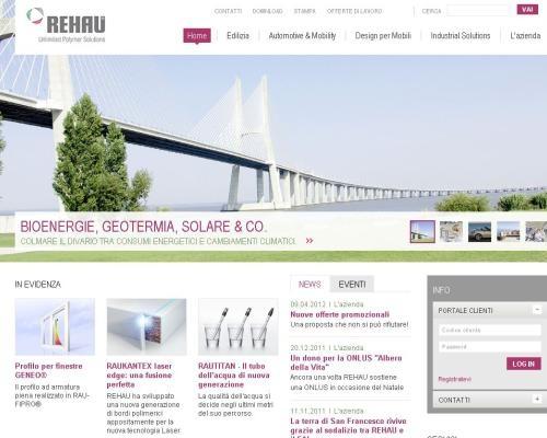 Nuovo volto web 2.0 per Rehau