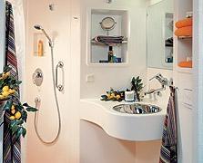 Il bagno finito in vetroresina linea saniflex