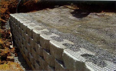 Blocchi Calcestruzzo Per Muri.Muri Di Sostegno In Blocchi Di Calcestruzzo Rockwood Block Con