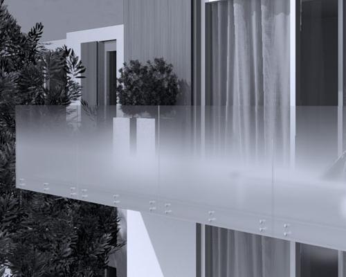 Il vetro con satinatura progressiva per interni ed esterni