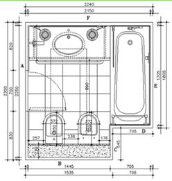 Cellule bagno prefabbricate su misura - Dimensioni minime bagno ...