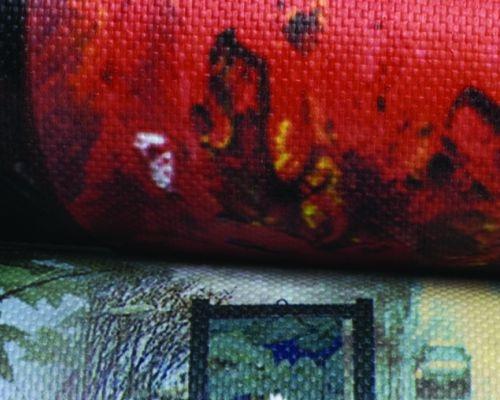 Tessuto in poliestere oscurante spalmato per stampa digitale