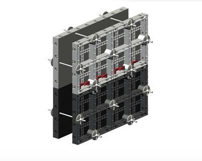 Sistema di casseforme modulari in plastica