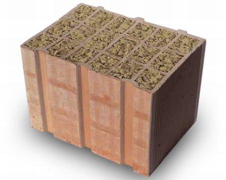 Nuovi blocchi Alveolater® a fori riempiti con lana di roccia
