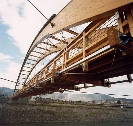 Ponte in legno a Barberino del Mugello