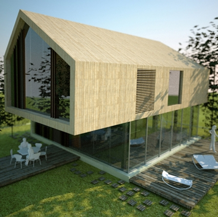 Prototipo di casa unifamiliare for Progetti di edilizia eco friendly