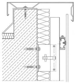 Facciata ventilata ceramica dwg pannelli termoisolanti for Parete attrezzata dwg