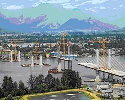 Sistemi PERI versatili per la realizzazione del Golden Ears Bridge in Canada