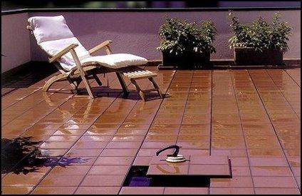 Pavimento sopraelevato per esterni - Impermeabilizzante per piastrelle ...