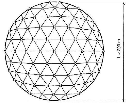 Copertura geodetica in legno lamellare