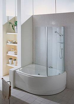 Casa immobiliare accessori vasca doccia angolare - Vasche bagno angolari ...
