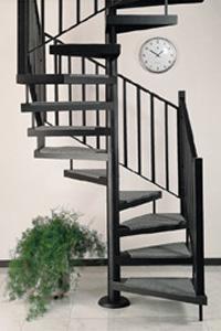 Scale a chiocciola su misura in acciaio e legno - Scale a chiocciola a pianta quadrata ...
