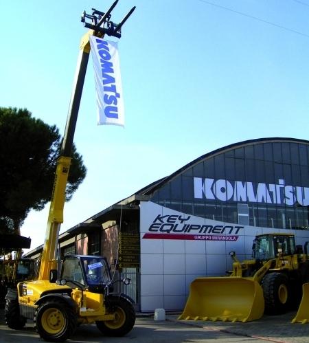 Dal 2006, a Verona e Mantova, Komatsu è Key Equipment