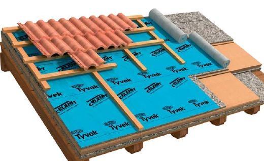 Telo traspirante per tetti in legno