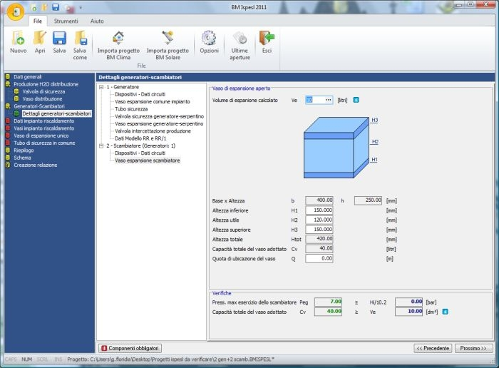 SOFTWARE TERMOACUSTICA – ISPESL