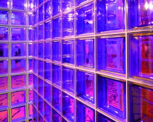 3 inedite nuance per i mattoni di vetro Seves glassblock: arancio, fucsia e viola