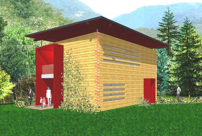 Rubner haus presenta un nuovo concetto di blockhaus for Concetto aperto di piani coloniali
