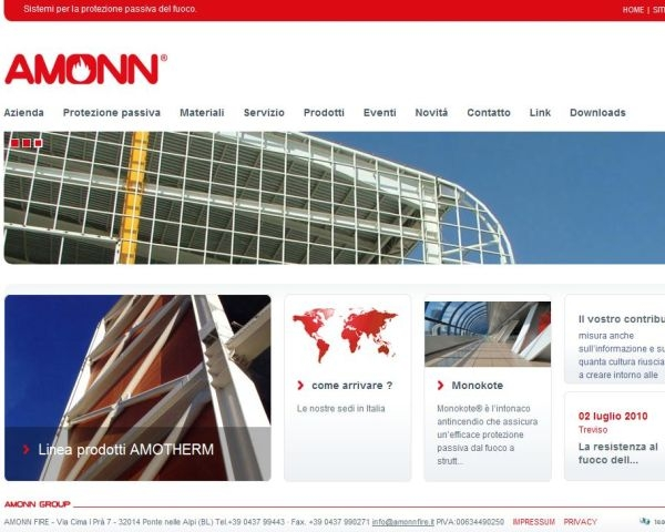 Amonn Fire presenta il nuovo sito web  www.amonnfire.it
