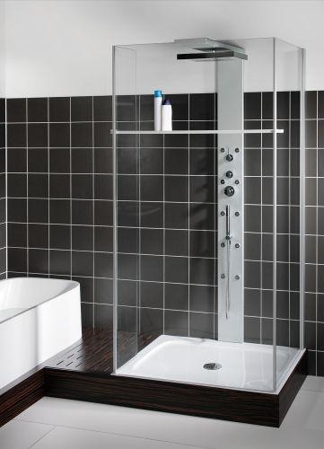 Box doccia cristallo legno for Box doccia cristallo