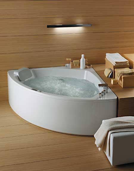 Vasche da bagno rettangolari e angolari con idromassaggio - Vasche bagno angolari ...