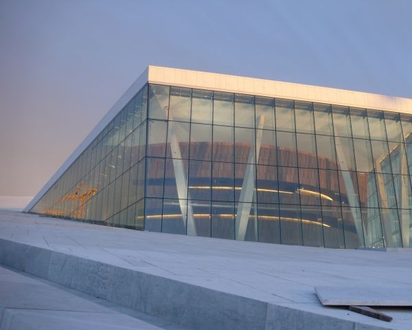 Esterno Teatro dell'opera di Oslo, Photo by Snohetta