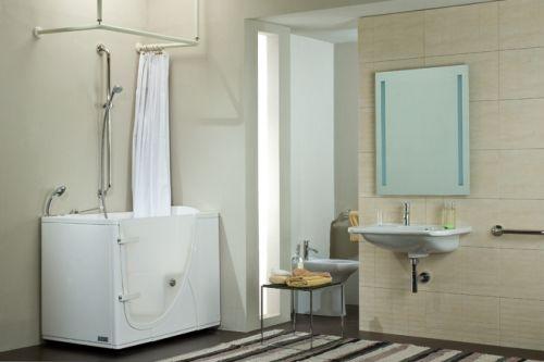 Maniglioni serie inox lucido - Bagno disabili con doccia ...
