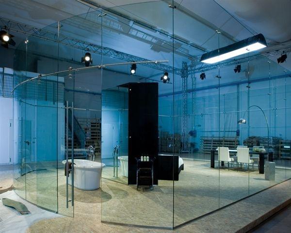 Strutture pareti e divisori in vetro for Divisori in vetro per ufficio prezzi