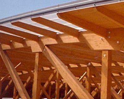 Copertura reticolare in legno lamellare