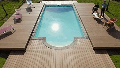 La copertura per piscine che diventa terrazza