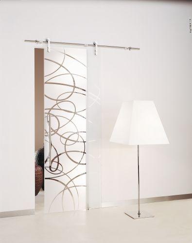 Aura porta scorrevole a vetri esterno parete - Porte scorrevoli a vetri ...