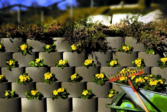 Muri di contenimento terra - Terra da giardino ...
