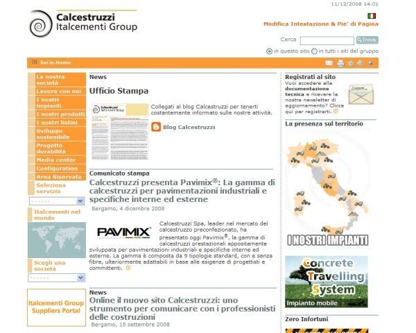 Calcestruzzi: un nuovo sito per comunicare le costruzioni