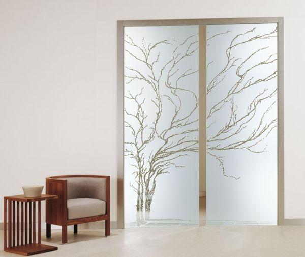 Aura   porta scorrevole a vetri esterno parete
