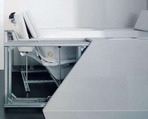 Nuove versioni da incasso per la serie di vasche Sundeck con sistema a scorrimento