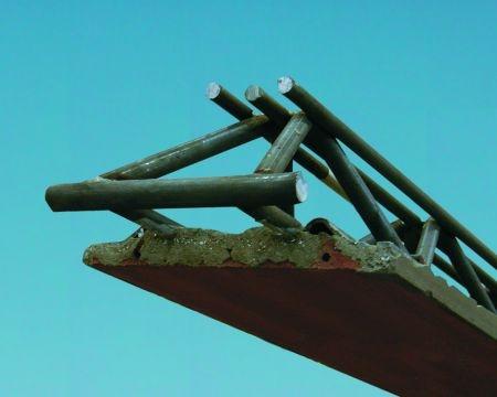 Trave in acciaio/calcestruzzo/laterizio
