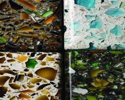 Superficie in vetro riciclato