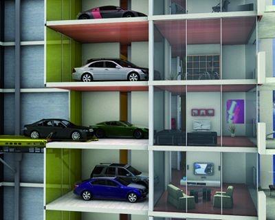 A Singapore l'auto si parcheggia direttamente in salotto