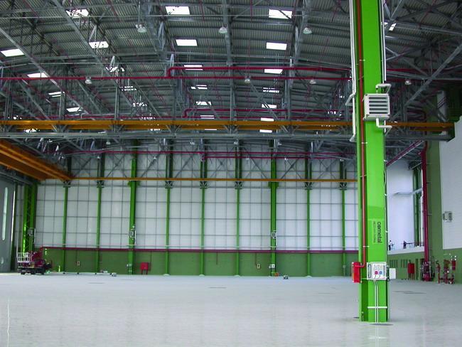 Eraclit allestisce l'Hangar e gli uffici Atitech 2000 a Capodichino