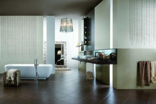 Piastrelle per bagno con fiori con ming adesivi da parete motivo