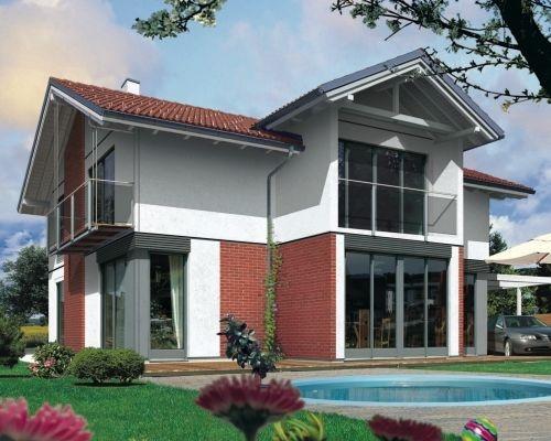Classiche case con tetto a due falde for Moderni disegni di case a due piani