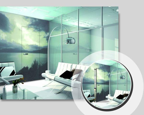 Continuità e fluidità tra le pareti con le Porte Essential a battente filo parete