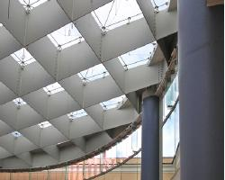 Illuminazione delle nuove sale dei musei capitolini a Roma