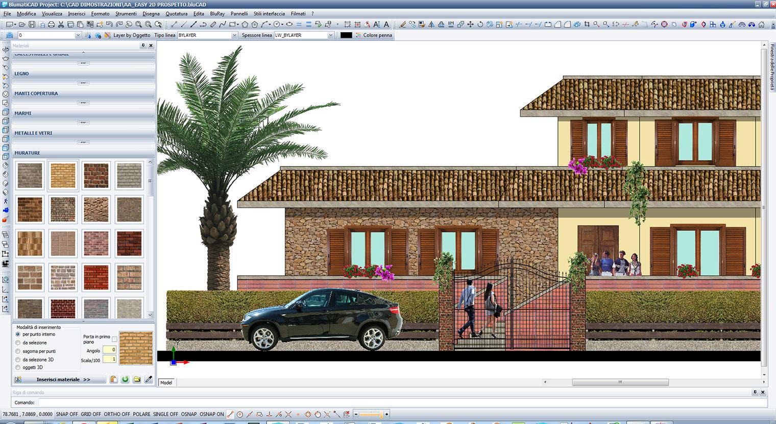 Blumaticad project per disegni 2d e 3d for Arredi sketchup