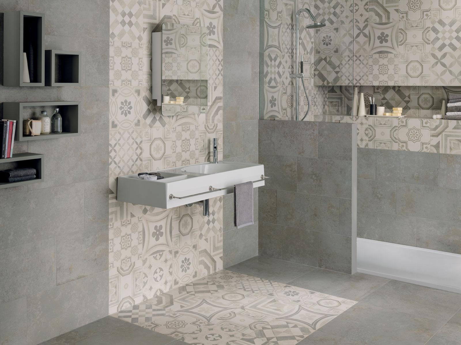 Cementine gres porcellanato decorato - Cementine bagno ...