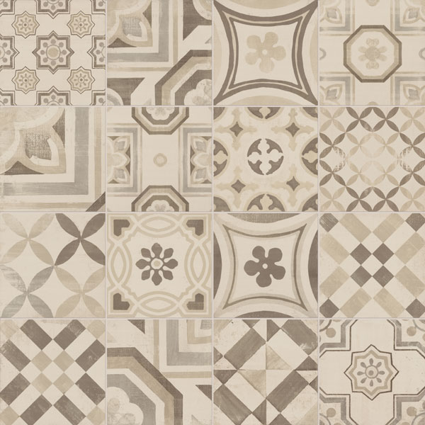 Cementine gres porcellanato decorato - Piastrelle geometriche cucina ...