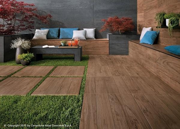 Etic pro pavimenti effetto legno per ambienti esterni