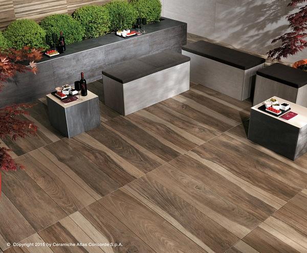 Etic pro pavimenti effetto legno per ambienti esterni - Gres porcellanato effetto legno da esterno ...